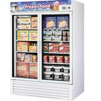 Turbo Air TGF49FN Glass Door Freezer Merchandiser 2 Swing Doors 5438 Length 398 CuFt White