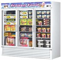 Turbo Air TGF72F Glass Door Merchandiser ReachIn Freezer 3 Swing Door 8178 Wide 72 Cubic Feet