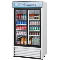 Turbo Air TGM35RN Glass Door Refrigerated Merchandiser 2 Sliding Doors 4138 Length 2927 Cu Ft Super Deluxe Series