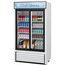 Turbo Air TGM35RN Glass Door Refrigerated Merchandiser 2 Sliding Doors 4138 Length 2927 Cu Ft Super Deluxe Series