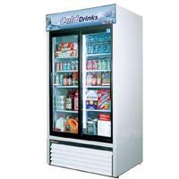 Turbo Air TGM35RN Glass Door Refrigerated Merchandiser 2 Sliding Doors 4138 Length 35 Cu Ft Super Deluxe Series