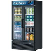 Turbo Air TGM35SDN Glass Door Refrigerated Merchandiser 2 Swing Doors 3912 Length 37 Cu Ft Super Deluxe Series