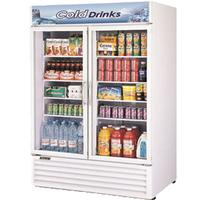 Turbo Air TGM50RSN Glass Door Merchandiser Refrigerator 2 Swing Doors 5578 Length 437 CuFt White