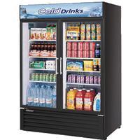 Turbo Air TGM50RSBN lass Door Merchandiser Refrigerator 2 Swing Doors 5578 Length 437 CuFt Black