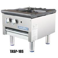 Turbo Air TASP18S Stock Pot Range 79000 BTU 1 Three Ring Burner Manual Controls Low Profile Radiance Series