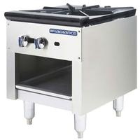 Turbo Air TASP18 Stock Pot Range 79000 BTU 1 Three Ring Burner Manual Controls Radiance Series