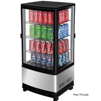 Turbo Air CRT772R Glass Door Refrigerated Merchandiser Countertop 2 Swing Doors Pass Thru 1634 Wide x 1678 Deep x 3812 Height 3 Cubic Feet