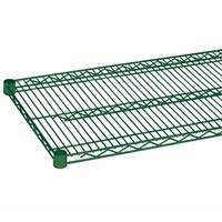 Thunder Group CMEP2148 Green Epoxy Wire Shelving 21 Front to Back x 48 Long Priced Each Purchased in In Cases of 2