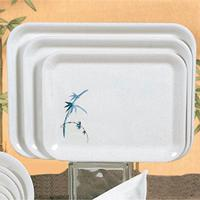 Thunder Group 0901BB Serving Tray 1318 x 1014 Rectangular Melamine NSF Blue Bamboo Priced by the Dozen Sold in Case of 1 Dozen