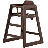 Omcan 80612 Infant High Chair Safety Harness Stackable Mahogany Priced Each Sold in Pallets of 10