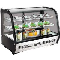 Omcan 27157 Curved Glass Refrigerated Countertop Display Case 35 Length x 27 High