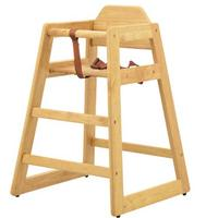 Omcan 80610 Infant High Chair Safety Harness Stackable Natural Priced Each Sold in Pallets of 10