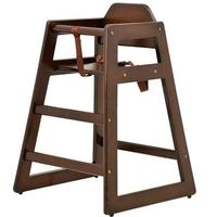 Omcan 80611 Infant High Chair Safety Harness Stackable Walnut Priced Each Sold in Pallets of 10