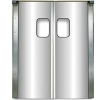 Chase Doors SD2013D56X84 Swinging Foodservice Doors Double Panel Aluminum 56 Wide x 84 High 9 x 14 Window 2000 Series Kitchen Classic