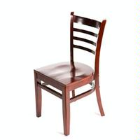 Oak Street WC101MH Wood Ladderback Chair Mahogany Finish Priced Each Sold in Pallets of 16