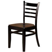 Oak Street WC101BLK Ladder Back Dining Chair Black Finish Priced Each Sold in Pallets of 16