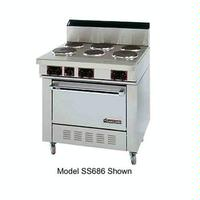 Garland USR SS686 Range Electric 36 Wide 6 Burners High Performance Sealed Elements With Standard Oven Sentry Series