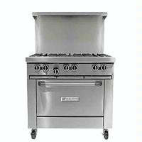 Garland USR U366R Range 36 Wide 6 Burners 32000 BTU Standard Oven 38000 BTU