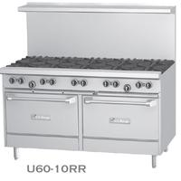 Garland USR U606G24RR Range 60 Wide 6 Burners 32000 BTU 24 Manual Griddle Right With Two Standard Ovens 38000 BTU