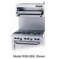 Garland USR GIR48 Salamander Broiler Gas 36 for 48 Restaurant Range 2 20000 BTU Burners With Hi Lo Controls