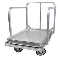 John Boos D1927SPH Pan Truck Dolly with Push Handle for 18 x 26 or 18 x 13 Pans Aluminum
