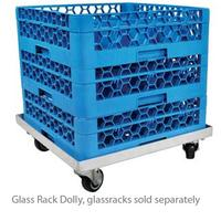John Boos D2020GT Glass Rack Dolly Single Stack for 20 x 20 Racks Aluminum