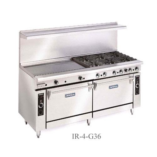 Imperial Commercial Restaurant Range 60 With 10 Burners 2 Standard Ovens Propane Model Ir-10