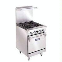 Imperial IR4 Range 24 Wide Gas 4 Burners 32000 BTU With Space Saver Oven 27000 BTU
