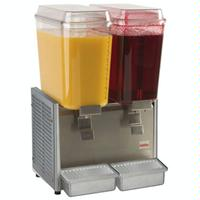 Grindmaster D253 Beverage Dispenser Two 5 Gallon Bowls Refrigerated Stainless Steel Crathco