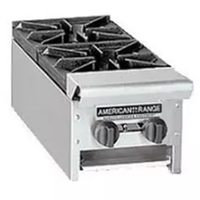 American Range ARHP122 Hotplate Countertop Gas 2 Burners 32000 BTU Each Manual Control 12 Wide