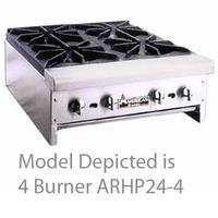 American Range ARHP484 Hotplate Countertop Gas 4 Burners 32000 BTU Each Manual Control 48 Wide