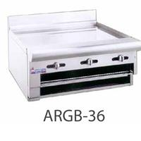 American Range ARGB48 Raised Griddle Broiler Combo Countertop Gas 48 Wide20000 BTU Every 12 34 Thick Plate Manual Controls