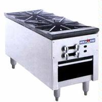 American Range SPSH182 Stock Pot Range Gas 90000 BTU Each 2 Three Ring Burners Infinite Manual Controls Low Profile