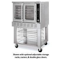 American Range MSD1 Convection Oven Gas Single Deck 75000 BTU Solid Doors Manual Controls