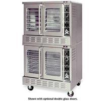 American Range MSD2 Convection Oven Gas Full Size Double Deck Manual Controls Solid Doors 75000 BTU Per Deck