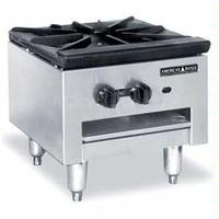 American Range SPSH18 Stock Pot Range Gas 90000 BTU 1 Three Ring Burner Infinite Manual Control Low Profile