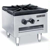 American Range SPSH18 Stock Pot Range Gas 90000 BTU 1 Three Ring Burner Infinite Manual Control Low Profile