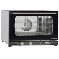 Cadco XAF113 Convection Oven Countertop Half Size Electric Humidity Fits 3 Half Size Pans