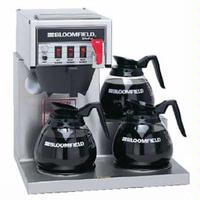 Bloomfield 8572D3F Coffee Brewer 3 Lower Warmers Automatic Hot Water Faucet Koffee King Series Decanters Sold Separately