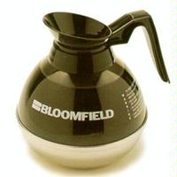 Bloomfield REG8895BL3 Coffee Decanter Unbreakable Plastic with Stainless Steel Bottom Black Handle Priced Each Sold in Quantities of 3 Three