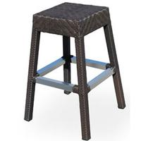 Source Contract SC200362 Stacking Bar Stool IndoorOutdoor Use HDPE Synthetic Resin Wicker Espresso Miami Series Priced Each Sold in Units of 10